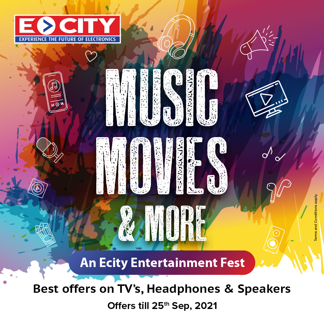 Offers on TVs, Home Theater/Music systems, Speakers and more at ECity!