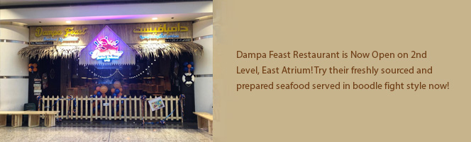 Dampa Feast Restaurant is Now Open on 2nd Level, East Atrium!