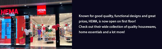 HEMA is now open on first floor!