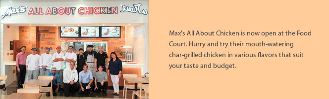 Max\'s All About Chicken Opens at Sahara Centre